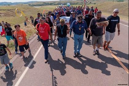 Protesterna mot oljeldningen är de största på 100 år från ursprungsfolk i USA. Foto: Joe Brusky