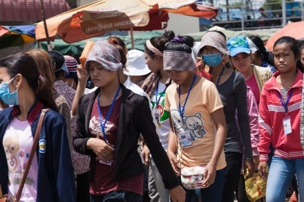 90% av de anställda i Kambodjas textilindustri är kvinnor. Foto: Tobias Andersson Åkerblom