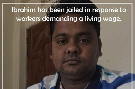 Ibrahim har arbetat med att organisera arbetare inom Bangladesh Centre for Worker Solidarity i sex år.