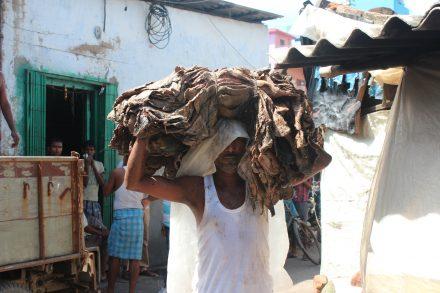 Läderarbetare i Indien är ofta migrantarbetare med låg utbildning. Foto: Tanja Kjeldgard